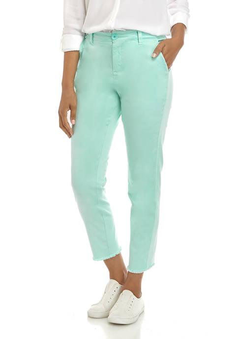 Crown & Ivy™ Fray Hem Chino Pants