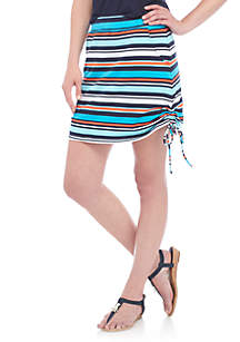 Stripe SIde Tie Skort