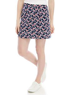 Crown & Ivy™ Front Seam Print Skort