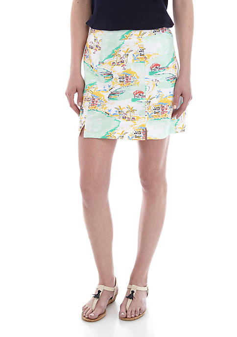 Crown & Ivy™ Printed Pull On Skort