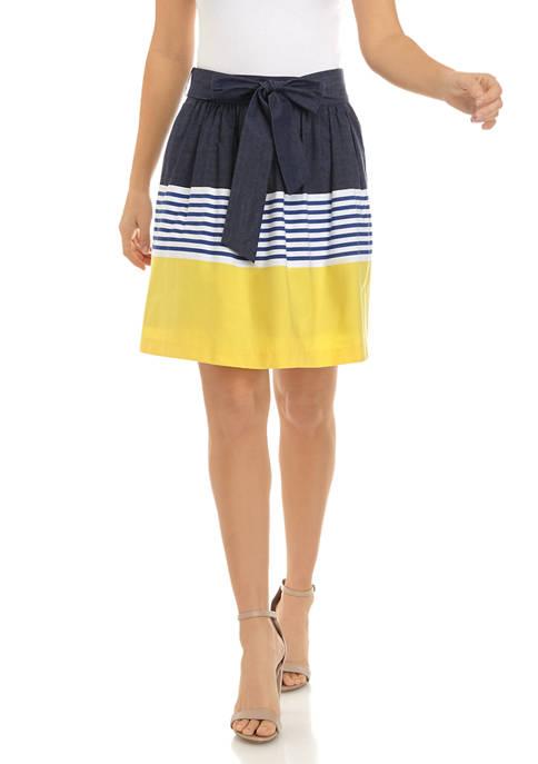 Crown & Ivy™ Womens Yarn Dye Skirt with