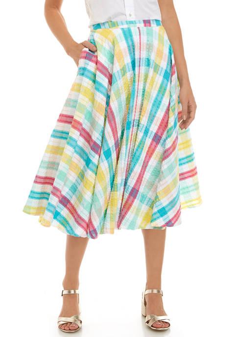 Crown & Ivy™ Womens Seersucker Skirt