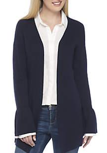 Crown & Ivy™ Long Bell Sleeve Cardigan