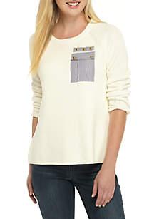 Long Sleeve Pocket Sweater