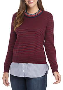 0cbd6cd6d0 ... Sweater · Crown   Ivy™ Long Sleeve Embellished 2Fer