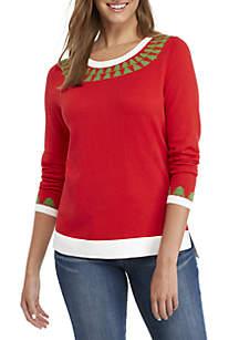 Long Sleeve Christmas Tree Sweater