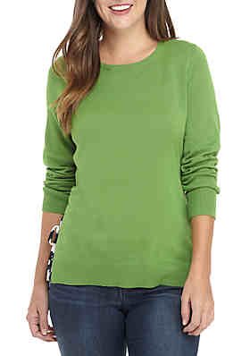 Crown   Ivy™ Long Sleeve Tie Sweater ... ace13d288