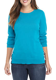 Crown & Ivy™ Long Sleeve Tie Sweater