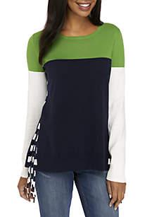Long Sleeve Side Tie Sweater