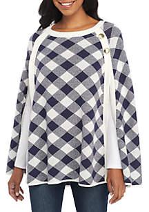 Pullover Sweater Cape