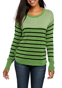 Long Sleeve Side-Buttoned Sweater