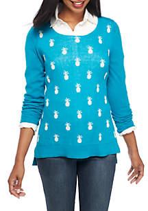 Long Sleeve Pineapple Sweater