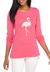 Long Sleeve Flamingo Sweater