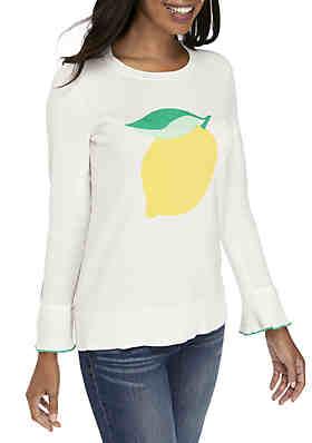 3ef4e261fcd0e Crown   Ivy™ Long Sleeve Novelty Print Sweater ...