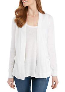 Crown & Ivy™ Long Sleeve Solid Cardigan