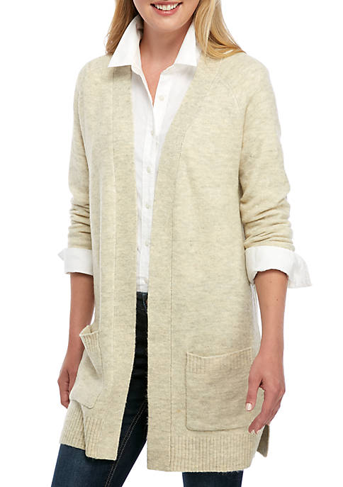 Crown & Ivy™ Womens Air Spun Solid Cardigan