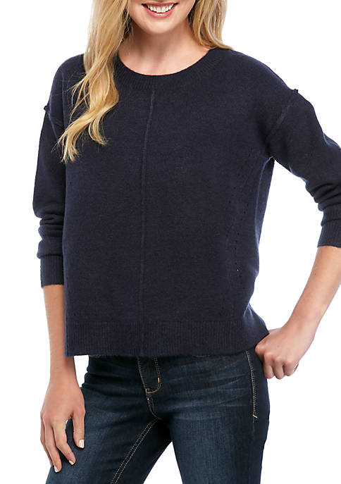 Crown & Ivy™ Womens Long Sleeve Air Spun