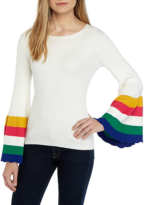 Crown & Ivy™ Long Color Block Flare Sleeve