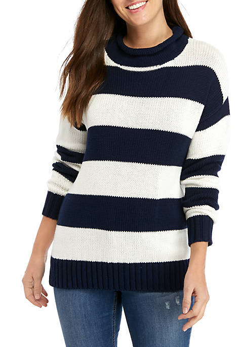 Crown & Ivy™ Long Sleeve Roll Neck Sweater