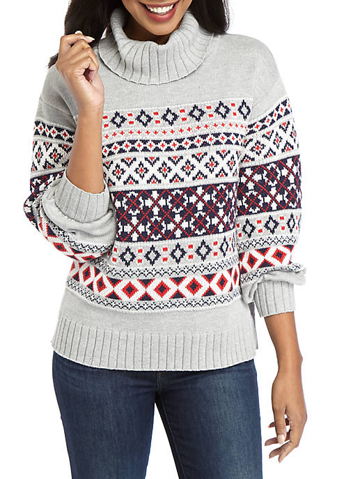 Crown & Ivy™ Womens Long Sleeve Roll Neck