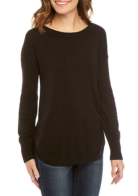 Crown & Ivy™ Long Sleeve Solid Sweater
