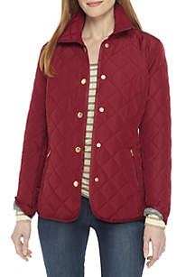 Long Sleeve Quilted Jacket