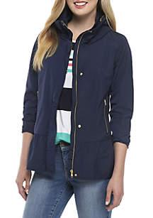 Long Sleeve Cowl Peplum Jacket