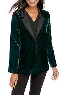 fd0a663f0d5 Crown   Ivy™. Crown   Ivy™ Long Sleeve Velvet Blazer