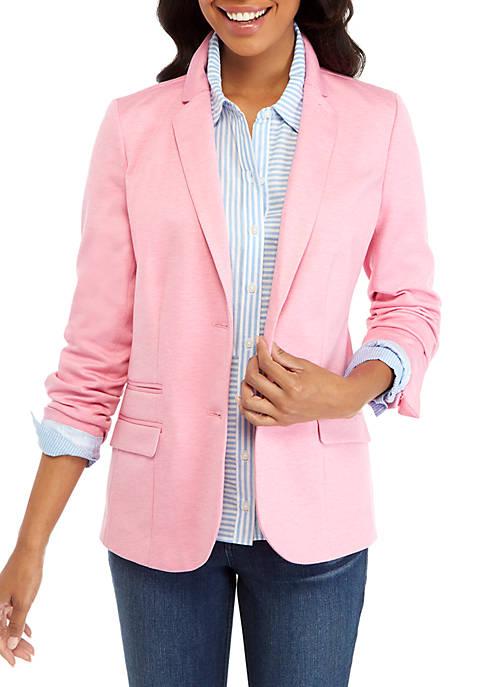 Pink Knit Blazer