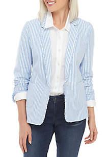 Crown & Ivy™ Long Sleeve Stripe Blazer