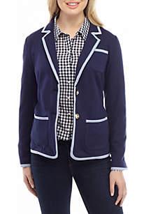Crown & Ivy™ Long Sleeve Solid Blazer