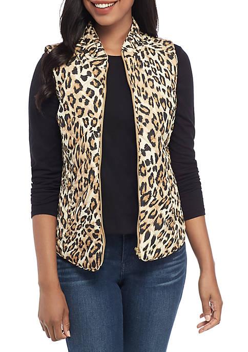 Crown & Ivy™ Printed Quilted Vest