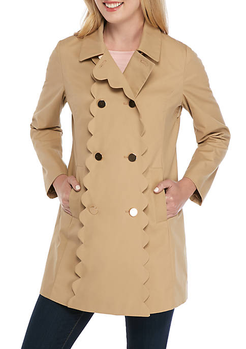 Crown & Ivy™ Long Sleeve Trench Coat