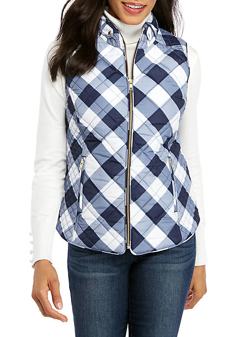 Crown & Ivy™ Womens Sleeveless Quilted Vest