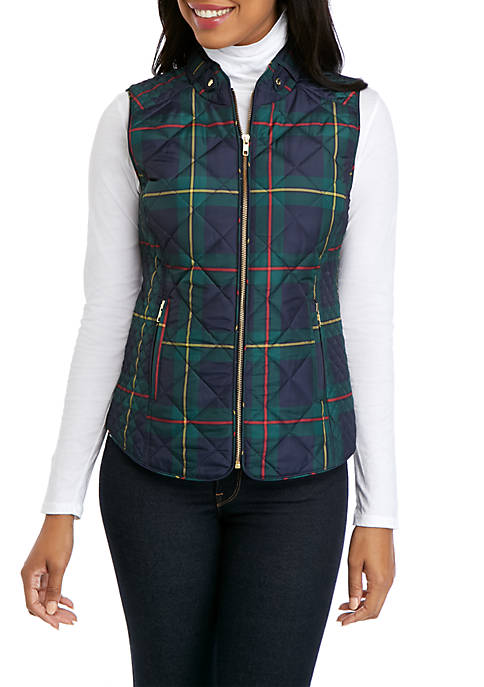 Sleeveless Quilted Printed Vest