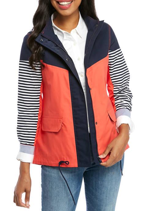 Crown & Ivy™ Womens Long Sleeve Anorak Jacket