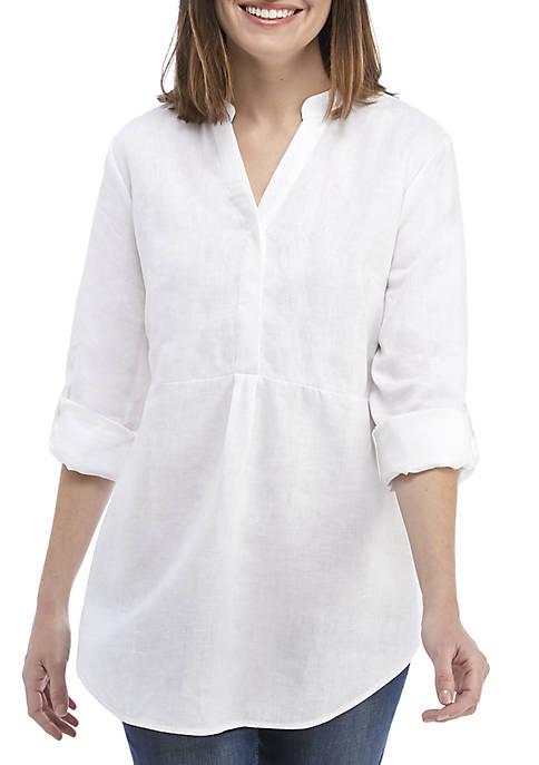 Crown & Ivy™ Long Sleeve Pom Tunic
