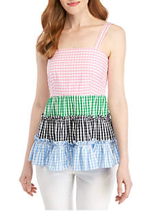 Crown & Ivy™ Sleeveless Color Blocked Top