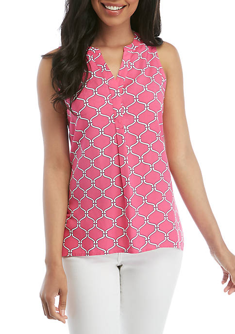Crown & Ivy™ Sleeveless Peasant Top
