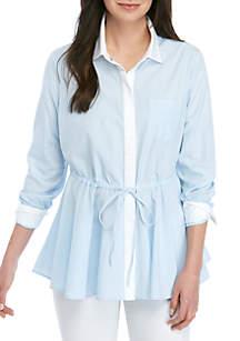 74eb2987158 ... Crown & Ivy™ Long Sleeve Striped Button Down Shirt