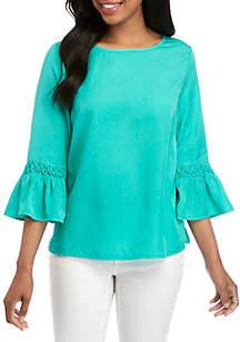 Crown & Ivy™ Smock Sleeve Top