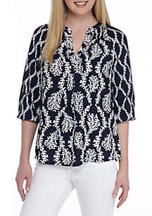 Woven Peasant Top