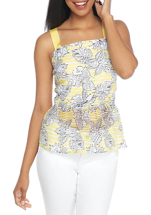 Crown & Ivy™ Sleeveless Novelty Print Top