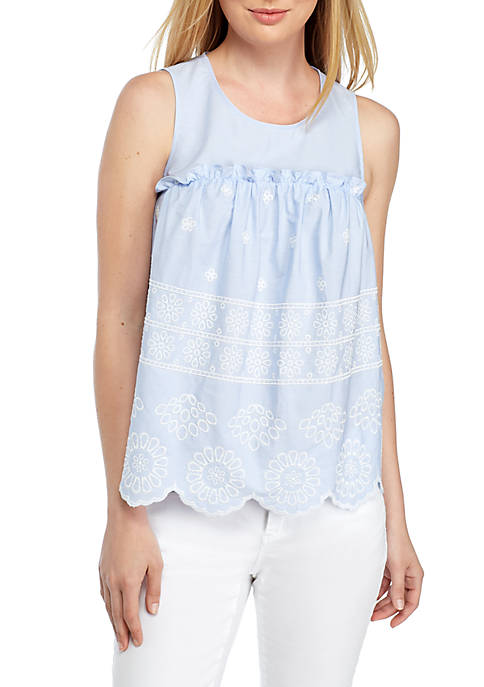 Crown & Ivy™ Sleeveless Empire Top