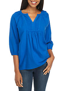 Crown & Ivy™ Girls 7-16 Double Keyhole Top