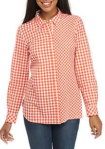 Long Sleeve Mix Print Shirt
