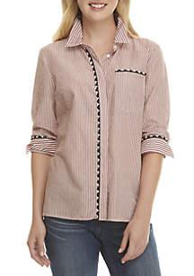 Long Sleeve Pom Rep Shirt