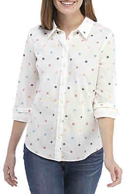 5c2a86e176b Crown   Ivy™ Long Sleeve Print Button Up ...