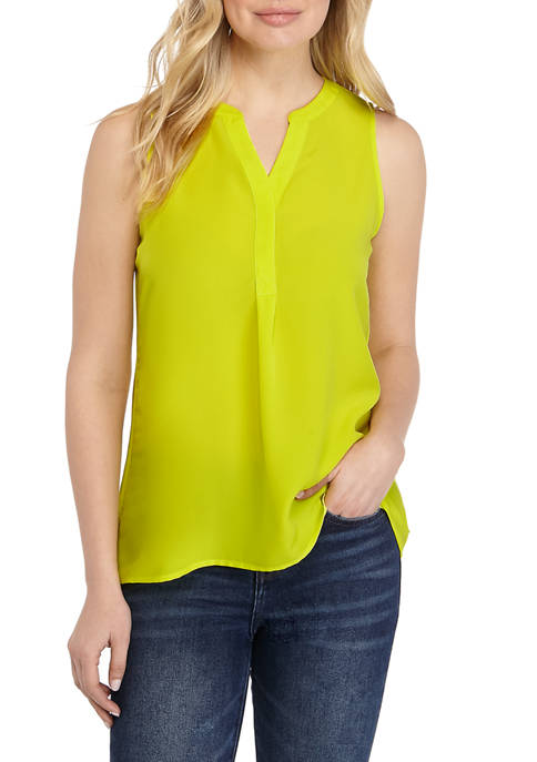 Crown & Ivy™ Womens Sleeveless Neon Top