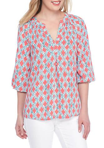 55672f9deb34a8 Crown   Ivy™ Petite Core Peasant Shirt